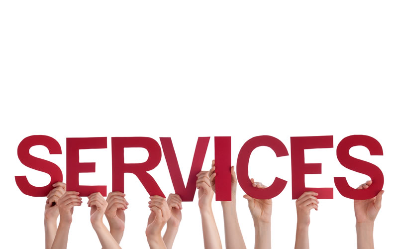 services hands many word straight holding service hold building happy caucasian isolated letters characters english holidays portfolio